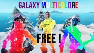HOW TO HAVE THESE SKINS GALAXY MULTICOLOR ON FORTNITE (WORLD EXCLU) HxD Hack Fortnite