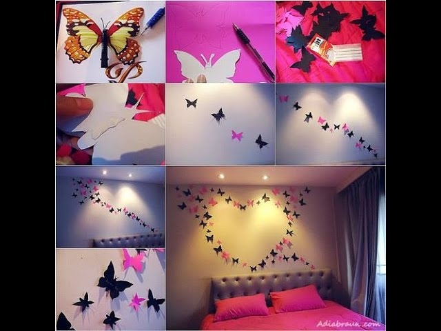 25 Cool And Cute Wall Decor Diy Ideas For Bedroom Learning Process Youtube