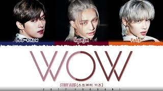 STRAY KIDS DANCE RACHA - 'WOW' Lyrics Color Coded_Han_Rom_Engwidth=