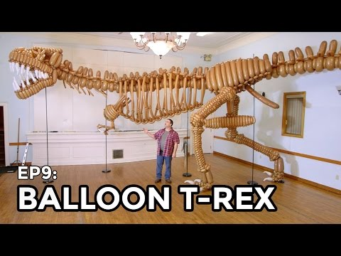 Life Size T-Rex Dinosaur made of Balloons - COOLEST THING I