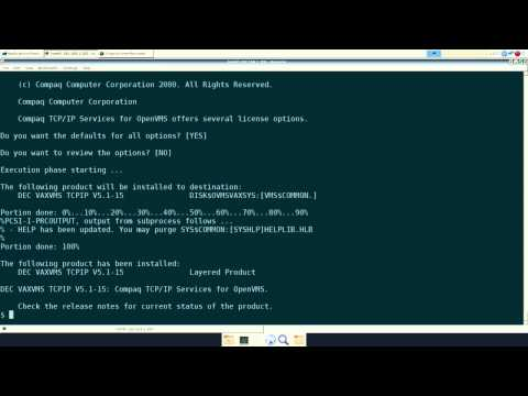 SimH OpenVMS VAX Part 1, basic installation  - With Loop