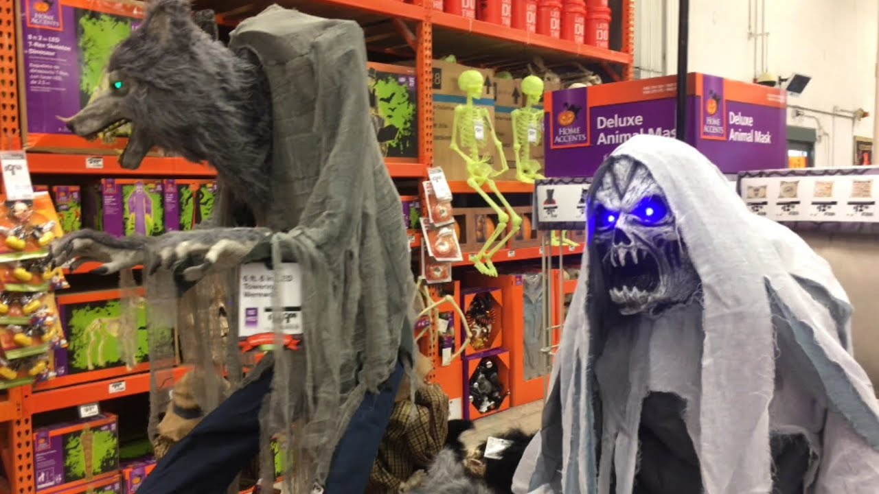 Home Depot Flexible Props : Home depot halloween in store footage of new