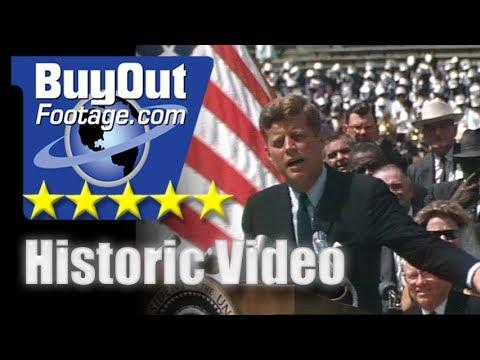 Presiden John F. Kennedy Rice University Moon Speech - Historic Video