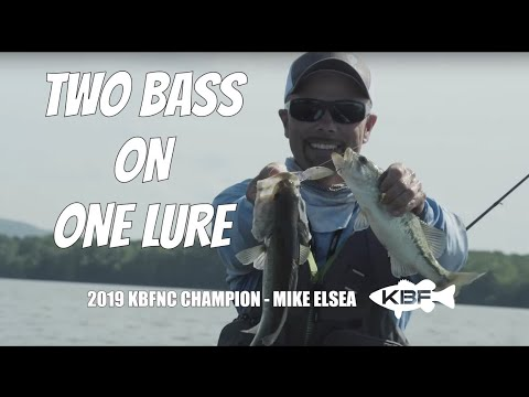 Toad Trips Featuring Mike Elsea   TWO BASS ON ONE LURE   Lake Guntersville