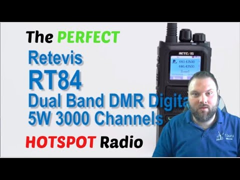 Retevis RT84 DMR Handheld Review The PERFECT hotspot radio Dual Band FM HT