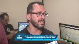 Em visita a Russas, Secretário de segurança Pública do Ceará André Costa, inaugurou o sistema de videomonitoramento