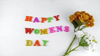 Stop motion animation design for International women's day celebrated on 8 march