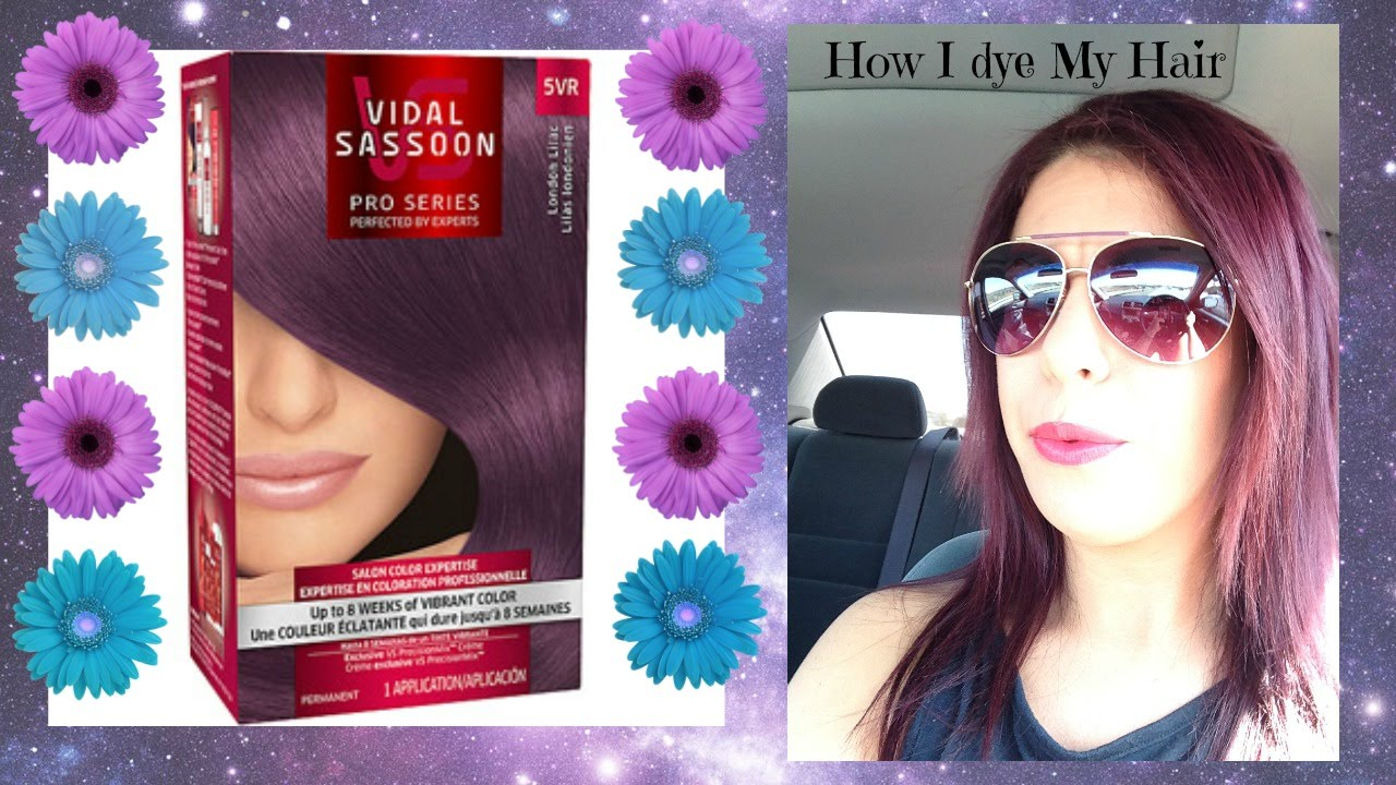 Dying My Hair Dark Purple Youtube