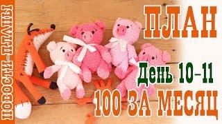ПЛАН 100 за месяц // День 10-11 // Новости Планы // Вязание игрушек
