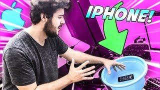 regalo a mi amigo un iphone 7 nuevo y se lo tiro al agua broma muy pesada termina muy mal