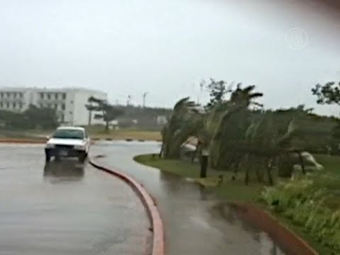 Тайфун обрушился на японские острова (новости)