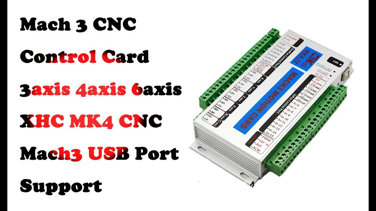 XHC MK4 V Mach3 USB 4 Axis CNC Motion Control Card Breakout Board 2 MHz  Support Resume