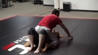 Guard to scissor sweep to mount to armbars, triangles...whatever