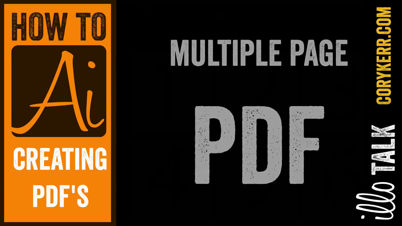 Pdf page script illustrator multi open