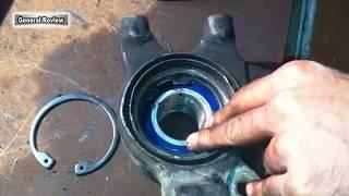 видео Замена ступичного переднего подшипника ВАЗ 2109