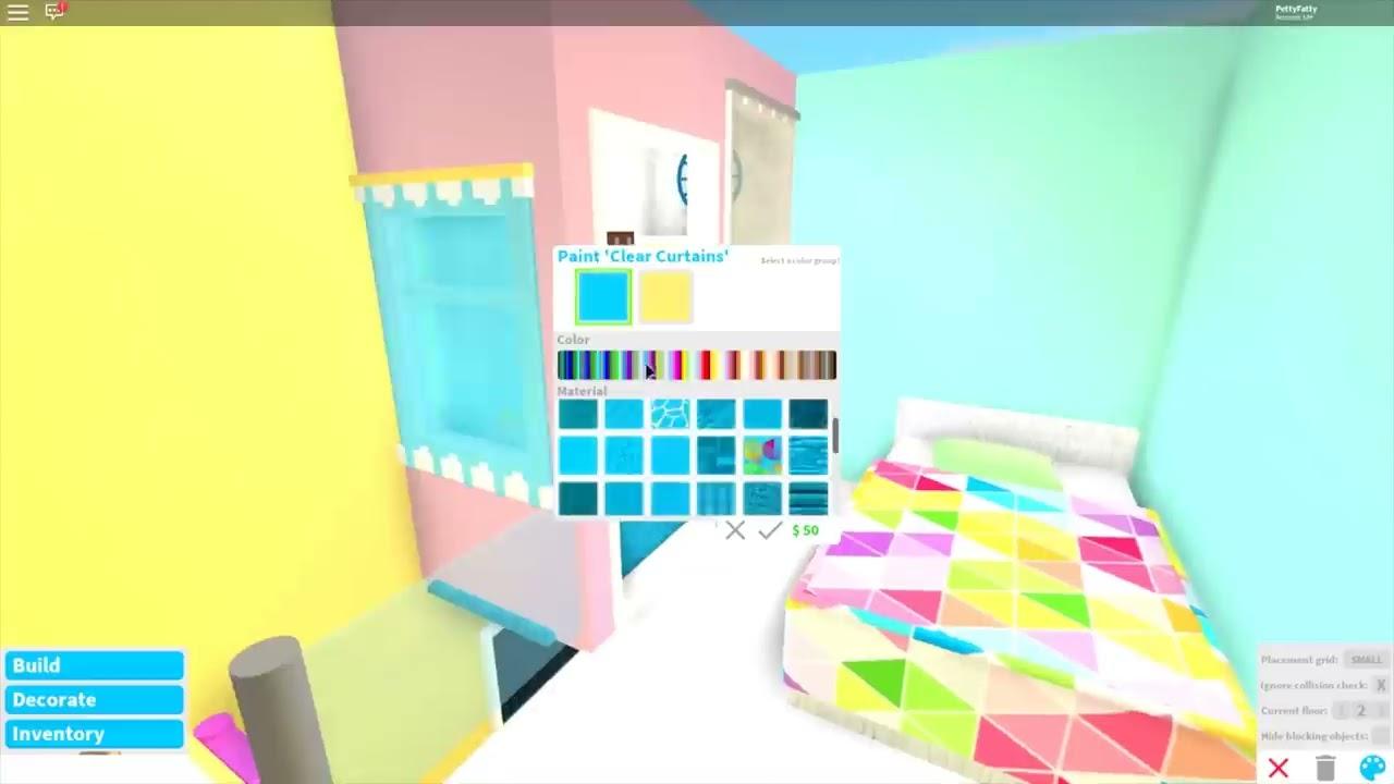 3x3 Pastel Mini Crib Speed Build Bloxburg Youtube