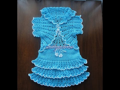 Crochet Baby Blanket Patterns Free Online : Crochet baby dress Crochet Cardigan Free Crochet ...