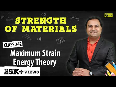 Maximum Strain Energy Theory - Theories of Elastic Failure - Strength of Materials