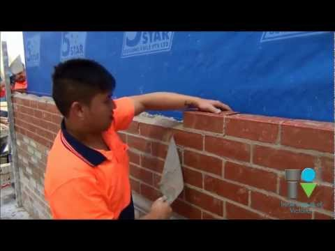 Bricklaying Training at the Trade Institute of Victoria