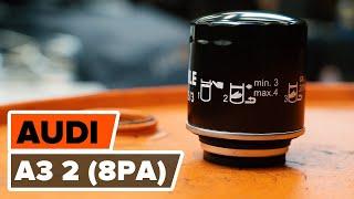 Come sostituire filtro olio motore e olio motore su AUDI A3 2 (8P1) [VIDEO TUTORIAL DI AUTODOC]