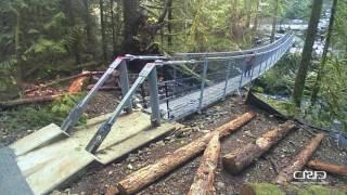 Sooke Hills Wilderness Trail Suspension Bridge