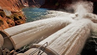 Emergency water discharges ¦¦ Dam water release ¦¦ Pressure ¦¦ Dam waterfall ¦¦ Crash Fails