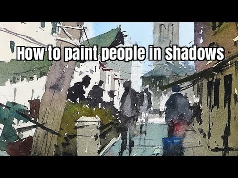 Watercolor Tutorial - How to paint people in shadows by Tim Wilmot #36