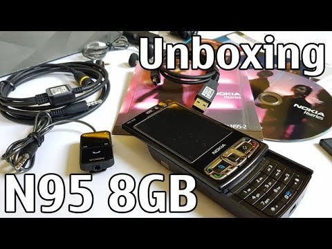 Nokia N95 8GB Unboxing 4K with all original accessories Nseries RM-320 review
