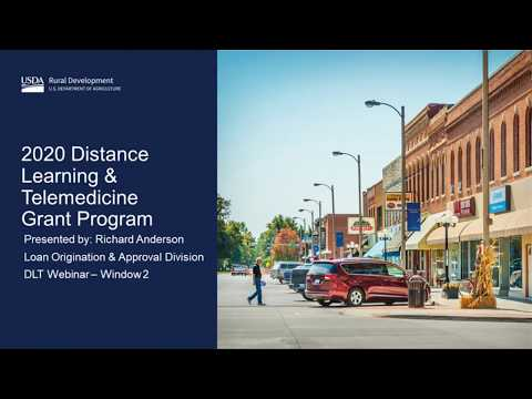 2020 Distance Learning & Telemedicine Grant Program Overview
