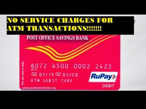 NO SERVICE CHARGES FOR INDIAN  POSTAL ATM #UNLIMITED TRANSACTIONS PER DAY