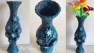 Best Out Of Waste Plastic Bottle Flower Vase - 6 / DIY / Plastic Bottle Craft Idea | Priti Sharma