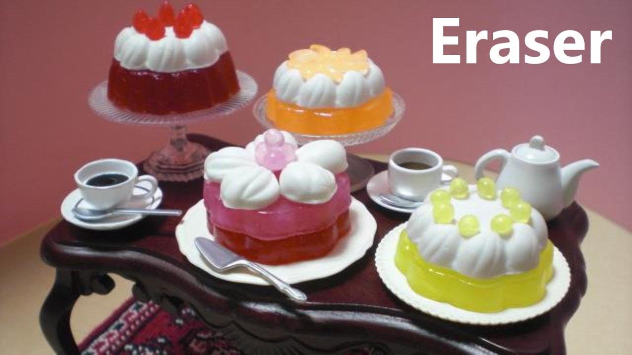 ケーキ形の消しゴム作成 Homemade cake shaped erasers
