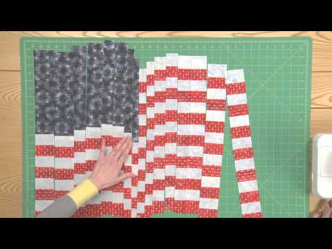 how to make a quilted flag pillowcase wall hanging part. Black Bedroom Furniture Sets. Home Design Ideas