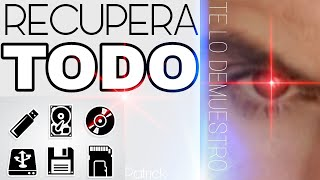 RECUPERAR ARCHIVOS BORRADOS O FORMATEADOS | DISCO DURO | MOVIL | USB | FOTOS | VIDEOS → Demostrado ←