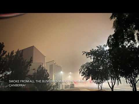 The worst night yet of 2020 in canberra? Severe smoke alert across the Australian Capital Territory!