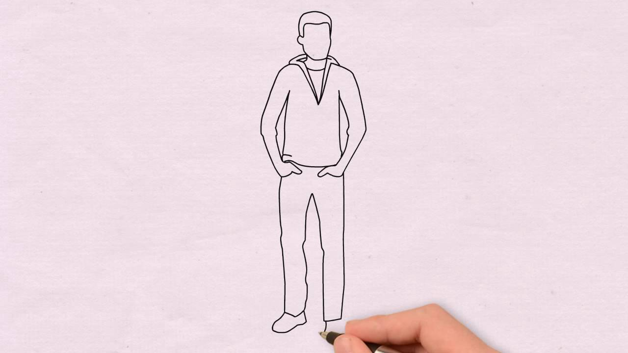 dessin homme en 70s comment dessiner un homme facilement pour enfants 5 youtube. Black Bedroom Furniture Sets. Home Design Ideas