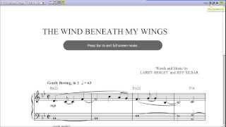 Wind Beneath My Wings by Bette Midler - Piano Sheet Music:Teaser