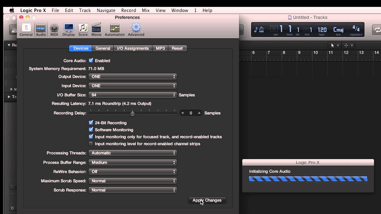Apogee ONE - How to begin recording in Logic Pro X - Apogee