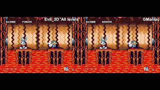 TAS Comparison - Genesis Tiny Toon Adventures. Evil_3D vs GManiac