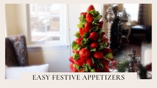 Holiday Entertaining:  Easy Festive Appetizers