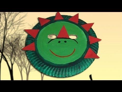 Como Hacer Una Mascara De Dinosaurio Disfraces De Carnaval Youtube