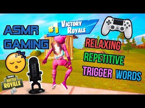 ASMR Gaming 😴 Fortnite For Sleep Relaxing Repetitive Trigger Words 🎮🎧 Whispering 💤
