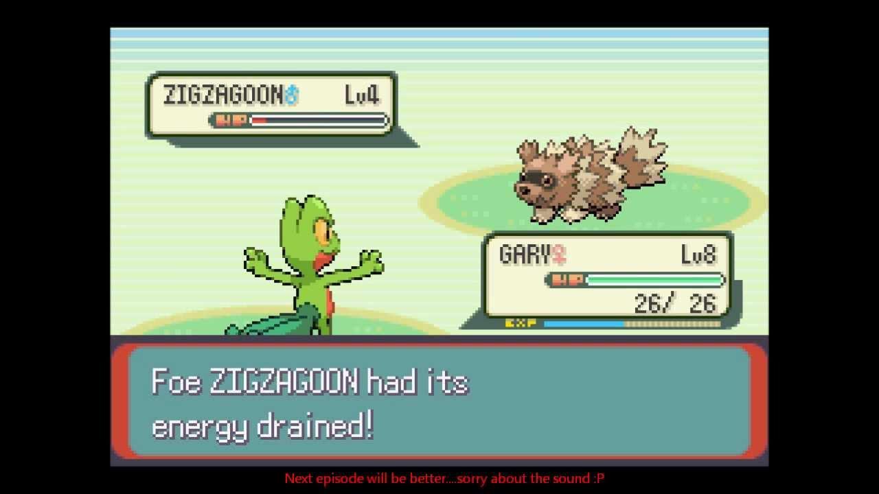 Pokémon Emerald Nuzlocke: Part2. A wild Snorlax appears ... A Wild Pokemon Appears