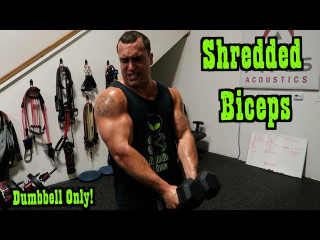 Intense Tabata Dumbbell Bicep Workout (HIIT)