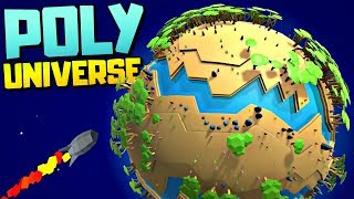 DISCOVERING AMAZING NEW PLANETS - Space Colony Management Sim - Poly Universe Gameplay
