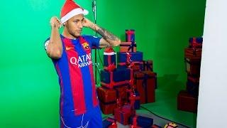 Christmas 2016: FC Barcelona first team. Sharing happiness বার্সেলোনার ক্রিসমাস ক্যাম্পেইনের জন্য ফিল্ম শুটে মেসি নেইমিরা