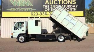 2005 Chevrolet W4500 12' Dump Landscape Truck at Public Auction