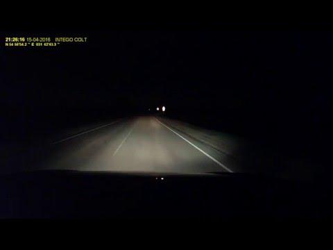 Комбо видеорегистратор INTEGO COLT ночь трасса fr1