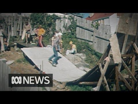 This guy built a skate ramp in his backyard (1977)