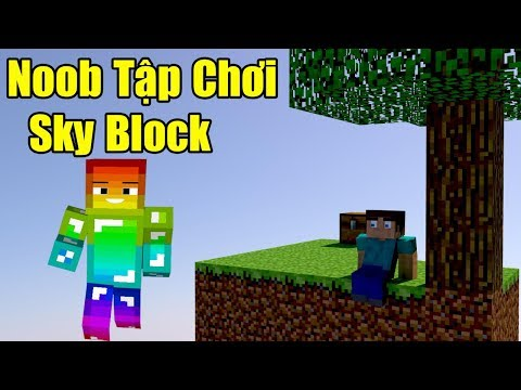 Noob Tập Chơi Sky Block Học Đòi Đua Top Sever Minebl.net